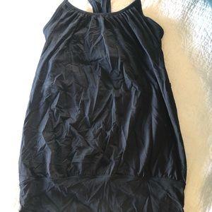 Navy lululemon CYB tank mesh with bra